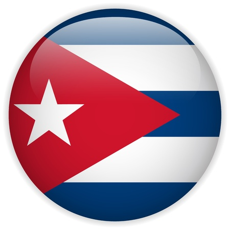 kuba flagge: Vector - Cuba Flag Glossy Button
