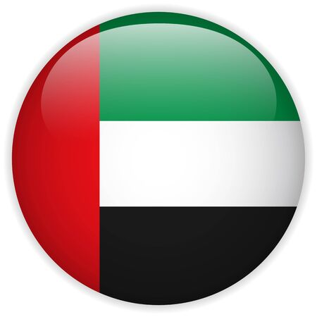 arab flags: Vector - Emirates Flag Glossy Button