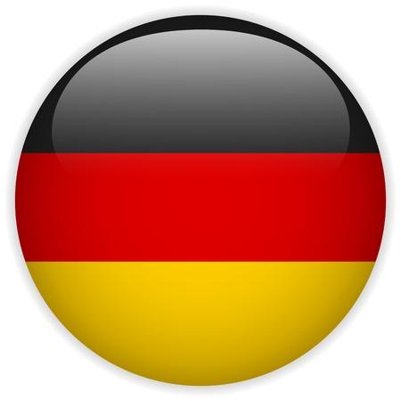 deutschland fahne: Vector - Deutschland Flagge Glossy Button