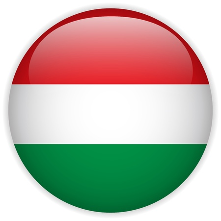 Vector - Hungary Flag Glossy Button