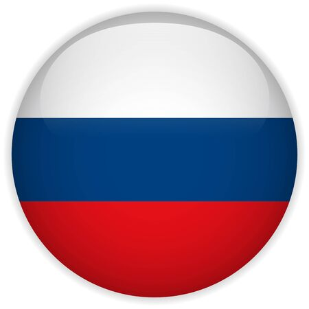 russia flag: Vector - Russia Flag Glossy Button