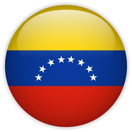 Vector - Venezuela Flag Glossy Button Stock Vector - 15064649