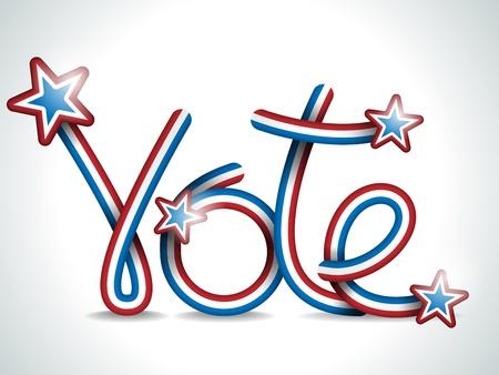 Vector - Vote USA Presidential Election Ribbon Stock Vector - 15064561