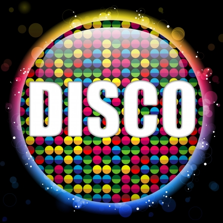 Glass Circle Color Disco Ball Vector