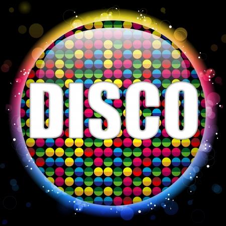 Glass Circle Color Disco Ball