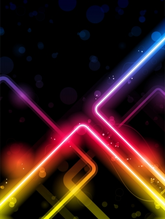 Rainbow  Lines Background Neon Laser Vector