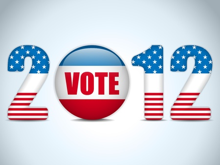 elect: United States Election Vote Button Background. Illustration