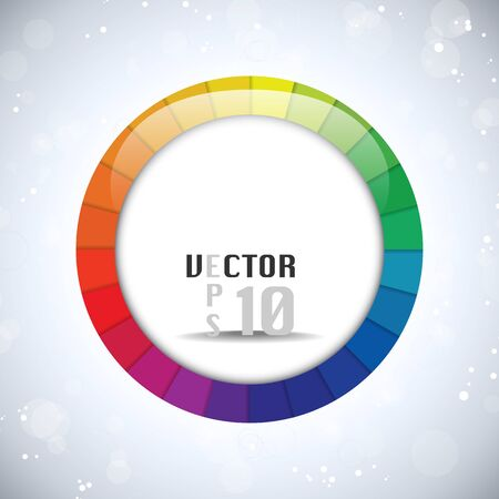 Vector - Colorful Glossy Circle Background Vector