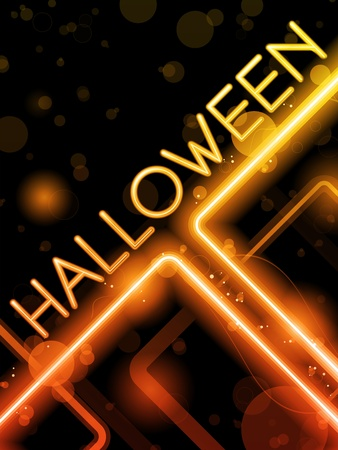 neon party: Vettore - Halloween Neon Party Background