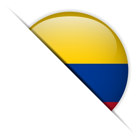 colombia flag: Colombia Flag Glossy Button