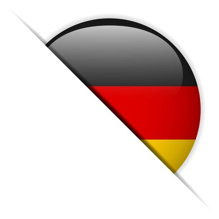 Germany Flag Glossy Button Vector