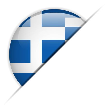greece flag:  Greece Flag Glossy Button