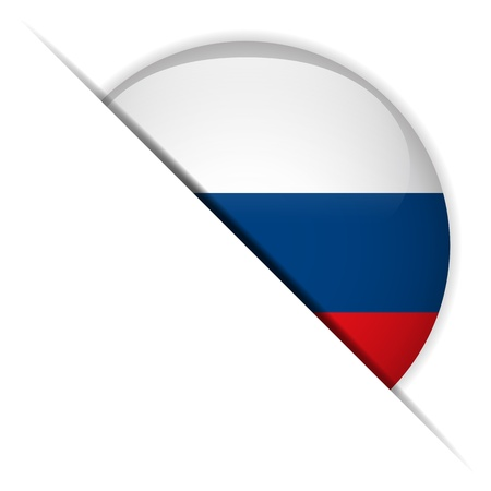 flag of russia: Russia Flag Button Glossy Vettoriali
