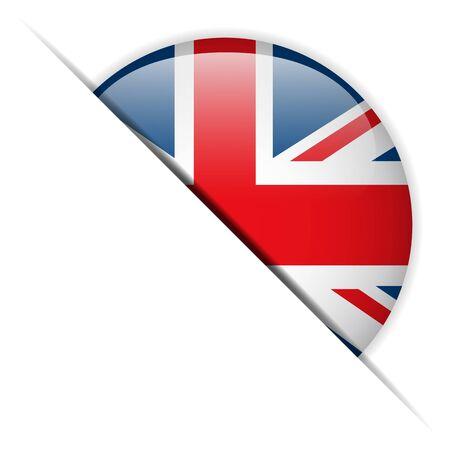 uk flag: United Kingdom Flag Glossy Button