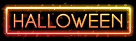 Halloween Neon Party Background Stock Vector - 15473845