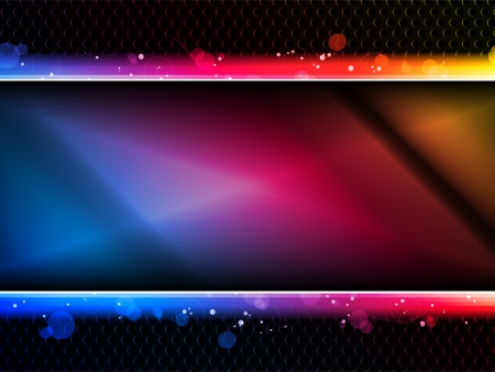 entertainment graphics: Colorful Rainbow Neon Party Background Illustration