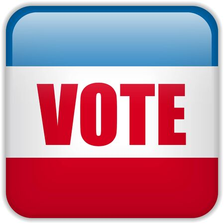 elect: United States Election Vote Button.