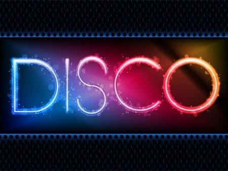 neon party: Colorful Rainbow Neon Party Background Illustration