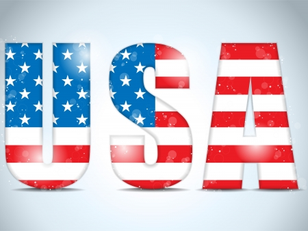 president of usa: USA Glass Letters with Flag Background