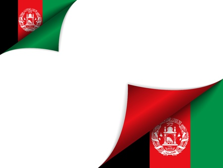 afghan flag: Afghanistan Country Flag Turning Page Illustration