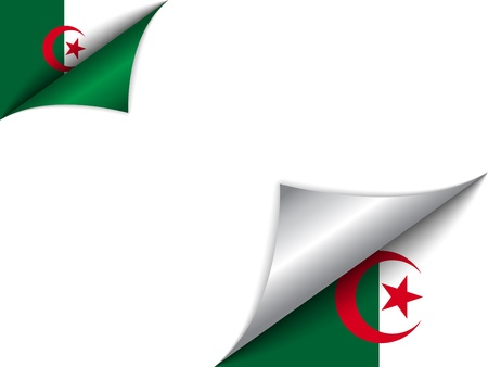 Algeria Country Flag Turning Page Vector