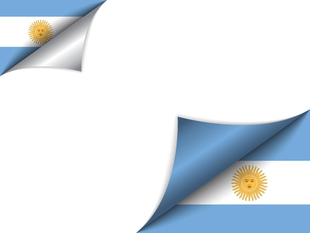 Argentina Country Flag Turning Page Vector