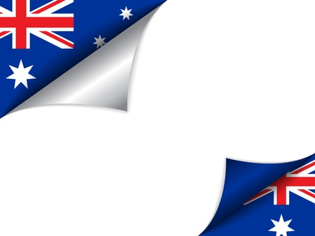 Australia Country Flag Turning Page Vector