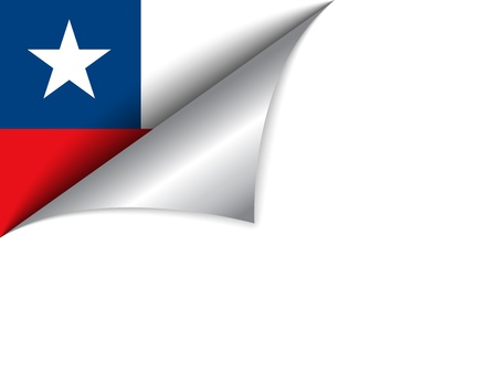 paper curl:  Chile Country Flag Turning Page