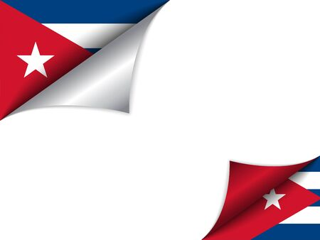 turning page:  Cuba Country Flag Turning Page