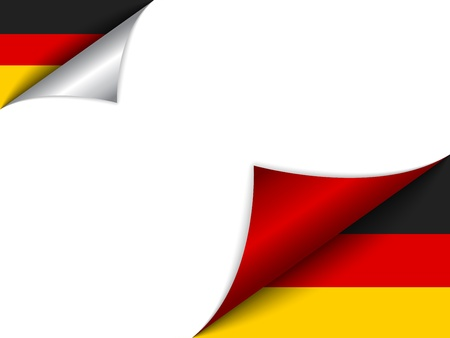 turn the corner:  Germany Country Flag Turning Page