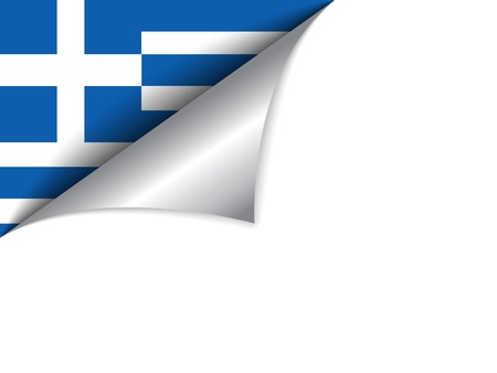 greece flag: Greece Country Flag Turning Page Illustration