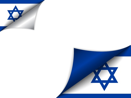 Israel Country Flag Turning Page Vector