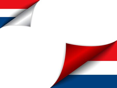 dutch flag: Netherlands Country Flag Turning Page