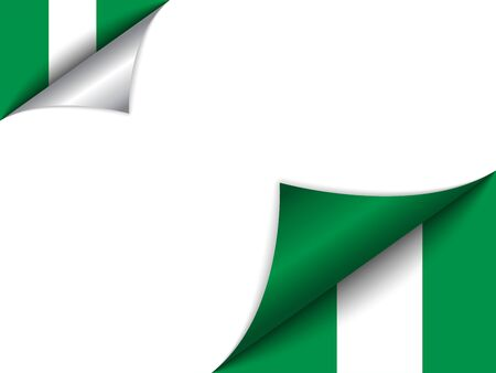 nigeria: Vector - Nigeria Country Flag Turning Page