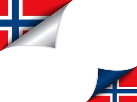 Norway Country Flag Turning Page Vector