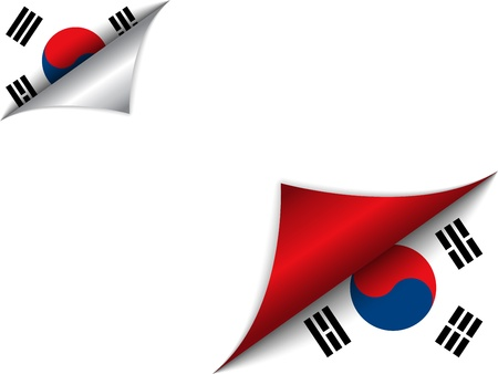 korean national:  South Korea Country Flag Turning Page
