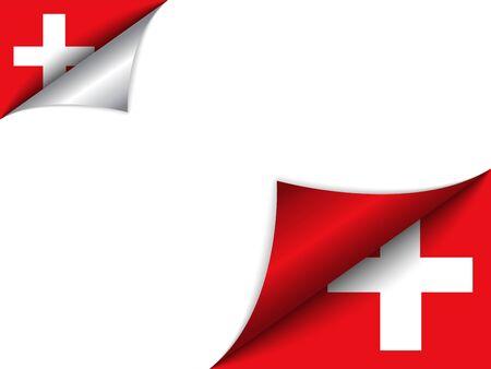 Zwitserland Land Vlag Draaien Pagina Vector Illustratie
