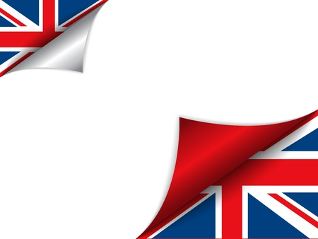 United Kingdom Country Flag Turning Page Vector