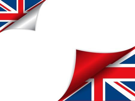 bandiere del mondo: United Kingdom Paese Bandiera Pagina Tornitura Vettoriali