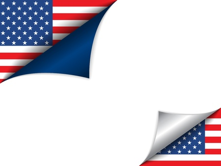 turn the corner: Pa�s EE.UU. Bandera cambio de p�gina Vectores