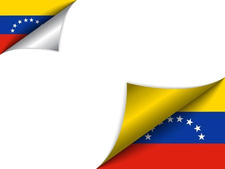 venezuelan: Venezuela Country Flag Turning Page
