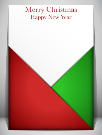 red envelope: Vector - Merry Christmas Card Red and Green Envelope