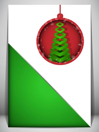 Vector - Merry Christmas Card Red and Green Envelope Vector
