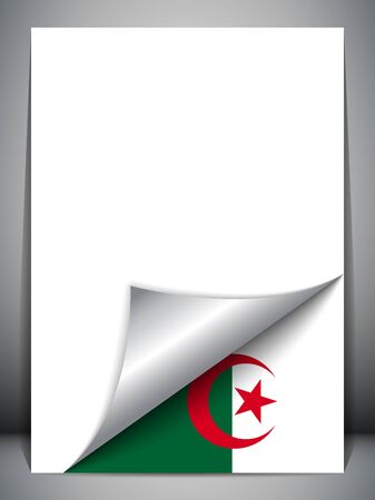 Algeria Country Flag Turning Page Stock Vector - 16659282