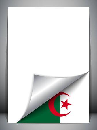 algerian flag: Algeria Country Flag Turning Page