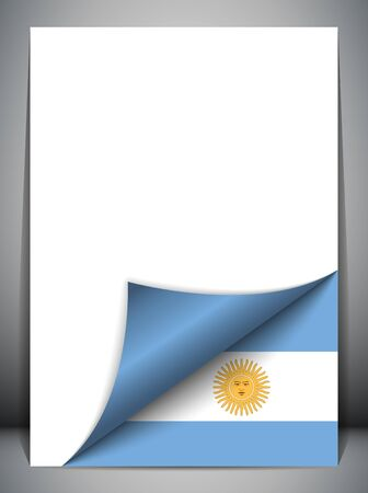 Argentina Country Flag Turning Page Stock Vector - 16659320