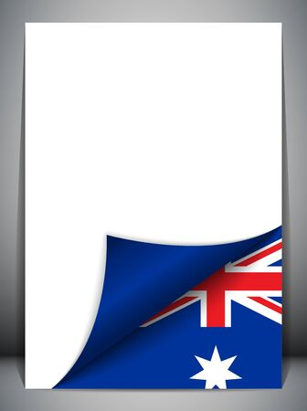 turning page: Australia Country Flag Turning Page