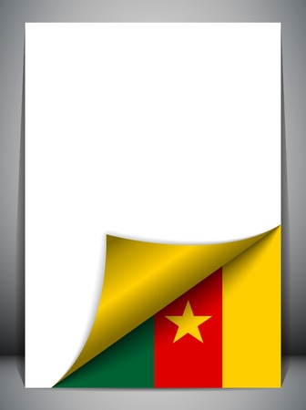Cameroon Country Flag Turning Page Stock Vector - 16659246