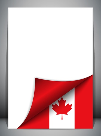 Canada Country Flag Turning Page Vector