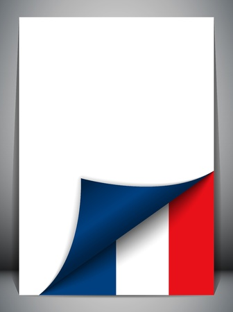 official symbol: France Country Flag Turning Page